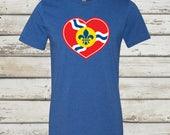 STL Heart Shirt, St. Louis Flag Shirt, St. Louis Flag, St. Louis Heart, STL Heart, St. Louis