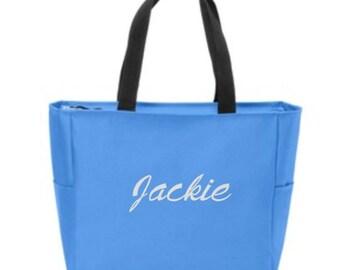 Bridesmaid Totes, Zip Top Tote, Bridesmaid Gifts, Personalized Bridesmaids Gift, Wedding Beach Bags, Zip Top Bag, Personalized Gift