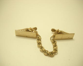 Vintage Gold Tone Sweater Guard (6181/6182)  Engravable