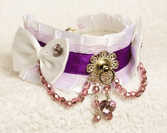 Rarity In Canterlot - MLP inspired collar for pet play, age play, bdsm, lolita, ddlg, cosplay etc.