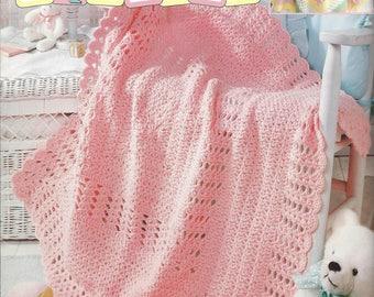 Snuggle Squares - Leisure Arts #3224 - Crochet Baby Pattern Afghan Blankets, Granny Square Baby Afghan, Crib Blanket, Nursery Afghan