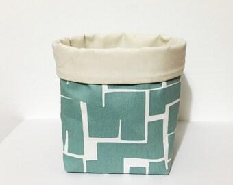 Storage basket - mint green fabric basket - scandi style home - nursery storage - gift for an organised mum - living room storage