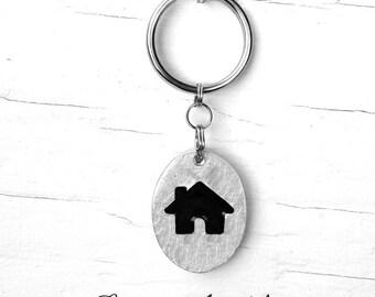 House keychains :. Animal - Habitation - Residence - Family - Gift - Accessory - Decoration