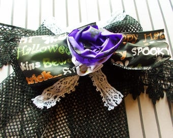 Halloween Choker - Gothic Collar - Gothic Choker - Gothic - Choker - Kawaii - Halloween - Rose Necklace - Flower Necklace - Lolita Choker
