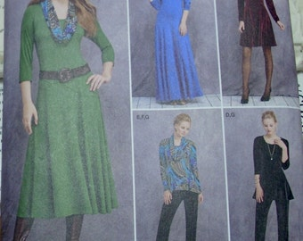 Free shipping! Simplicity 1018 U5 knits only dress, pants and cowl 16-24 UNCUT