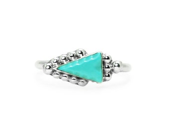 Turquoise Arrowhead Silver Ring