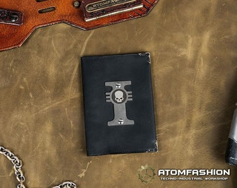 Inquisition leather passport cover inspired by Warhammer 40000