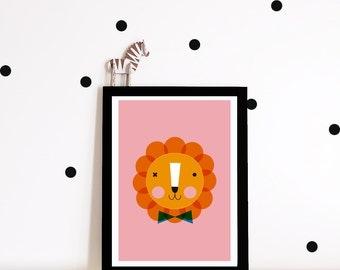 Lion Nursery wall art, Nursery print, Kids art print, nursery poster, kids poster, Lion, kids decor