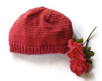 Three kids' beanies handknit winter hat woollen
