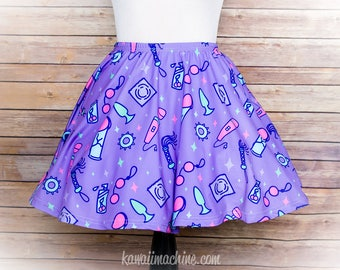 Sexy Time Adult Toy Pastel Print Skater Skirt