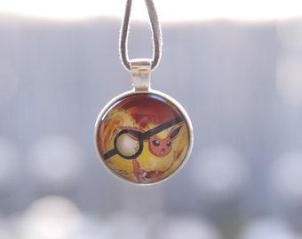 Pokemon Inspired Pokeball Pendants - Flareon