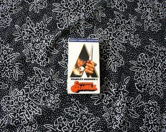 SEALED Clockwork Orange VHS Tape. Rare 80s Weirdo Sci Fi Movie Classic VHS Release. Stanley Kubrick Classic Film.