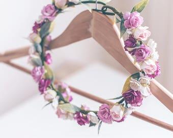 Pastel Pink Flower Crown