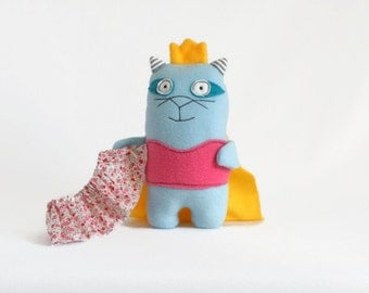 Light Blue Princess Plush Toy, Removable Skirt, Cat Toy, Princess Kitty, Stuffed Animal, Cat Plush, Cat Plushies, Cute Stuffed Cat Animals