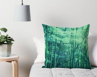 Dreamy Green Forest, Enchanted Forest, Surreal Art, Forest Picture, Green Trees Print, Dreamy Trees, Ethereal Art, Dreamy Photography, Green