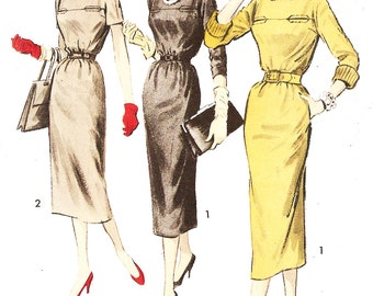 Advance 8471 Misses' Vintage 1950s Chemise Dress Sewing Pattern