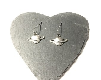 Saturn earrings planets space planetary planet geek Nasa stars astronomy galaxy costume jewelry