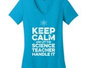 Keep Calm Shirts Keep Calm Teacher Shirts Science Teacher Shirts Science Teacher Gifts for Teachers Gifts for Sister Gifts for Scientists