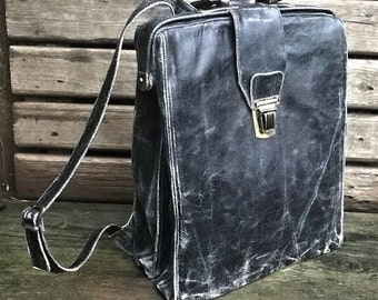 Handmade leather backpack N9