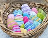 Crochet Pattern, Easter Egg Pattern, Amigurumi Pattern, 3 sizes Egg Crochet Egg Pattern, PDF Pattern, Easter Crochet Rattle Pattern