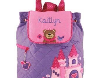 Princess Quilted TODDLER Backpack Stephen Joseph®, Toddler Backpack, Quilted Backpack, Kids Backpack, Stephen Joseph Backpack, Toddlers Bag