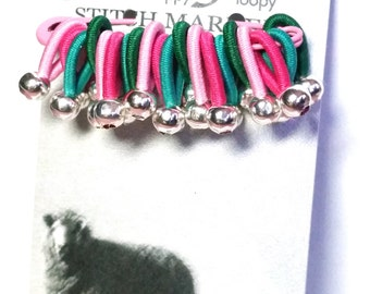 Choose size - FLOOPS - 20 knitting stitch markers - 'Charlotte'