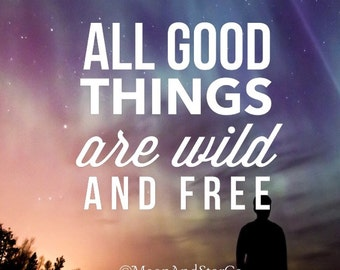 All Good Things Are Wild And Free - Vinyl Decal - Laptop Stickers - Laptop Decal - Car Decal - Quote Decal - Wild And Free Quote - Free