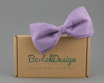 Purple Bow Tie for Men Violet Bow Tie Mens Bow Tie Purple Wedding Groomsmens Bow Ties Adjustable Bow Tie for Women Cotton Bow Tie Lavender