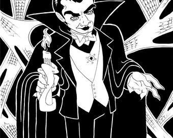 Dracula, Original Ink Drawing