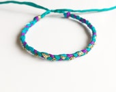 READY TO SHIP: Original Mama S / Turquoise, Violet, Teal & Gold