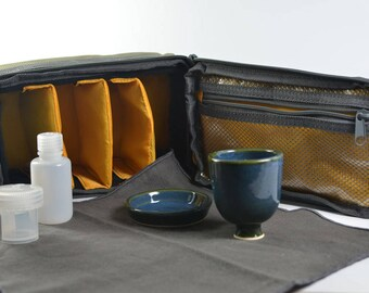 Portable communion set - travel communion set - portable communion kit - chalice and paten set - liturgical ware   W167