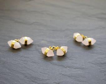 Rose Quartz Earring // Rose Quartz // Rose Quartz Jewlery // Rose Quartz // Quartz Earrings // Gemstone Studs // Open Heart Chakra