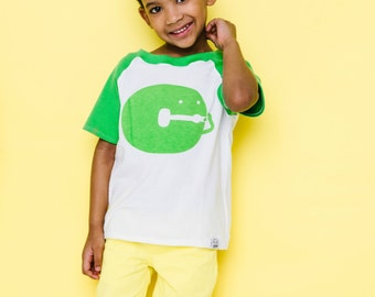 Classic Collection Green Alphabet Raglan | CHOOSE Your Letter A-Z