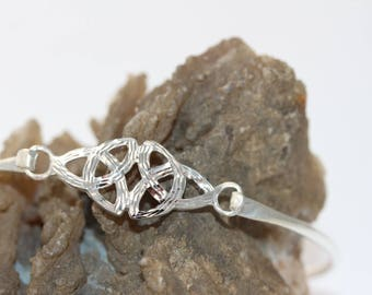HandMade Unique Celtic Knot Trinity Bangle Bracelet - 925 Sterling Silver - Celtic Irish