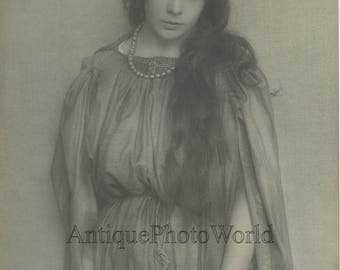 Mary Mayer as Magdalena Passion Play Oberammergau antique art photo