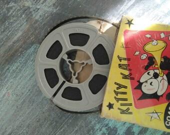 Vintage 8mm Kitty Kat K - 2 Burglar Reel, Coast Films, Home Movies, 50ft, Felix
