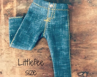 YOSD LITTLEFEE JEANS Distressed stretch jeans fitting Fairyland Littlefee yosd iplehouse bid