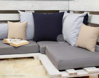 navy throw pillow cover navy blue pillow cover decorative pillow case navy linen cushion cover accent pillow farmhouse pillow couch pillow