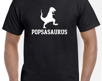 Pops Shirt-Pops Gift for New Pops-Popsasaurus Tshirt Funny Gift