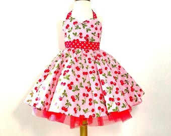 Pink Cherry Rockabilly Dress