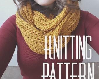Brioche Infinity Knitting PATTERN