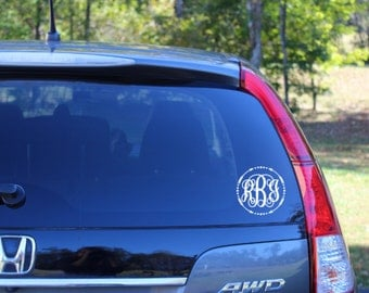 Car Decal Monogram Etsy - Monogram decal on car