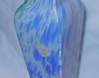 Vintage Lavorazione Murano Bud Vase Lavorazione Arte Murano Glass, Vintage Italian Glass 1960s mid century collectible glass
