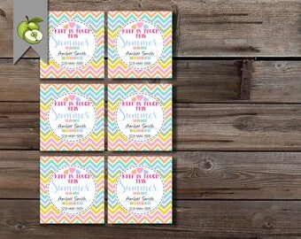 keep in touch, summer calling card, mom contact card, mom business card, kids calling card, KIT Card, printable, end of year, contact card
