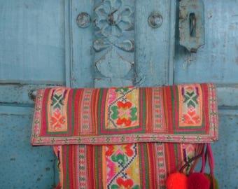 Hmong Handmade Vintage Textile Hilltribe summer Evening clutch