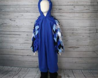Blue Jay Bird Fleece Toddler Costume