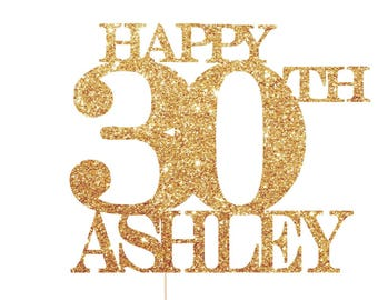 Happy 30th Birthday Cake Topper, 30th Birthday Props, 30th Cake Topper, 30th Birthday Decorations, 30th Birthday Party