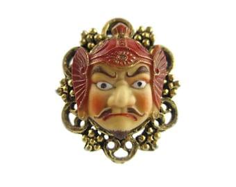Big Toshikane Arita  Ring /Bishamonten God of Dignity / Porcelain Seven Immortal Gods of Fortune/ Feng Shui God of warriors
