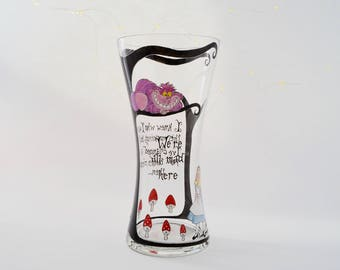 Alice in Wonderland Vase