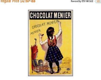 Chocolate Menier 1892 Vintage Poster Art Print Retro Style French Chocolate Advertising Free US Post Low EU Post